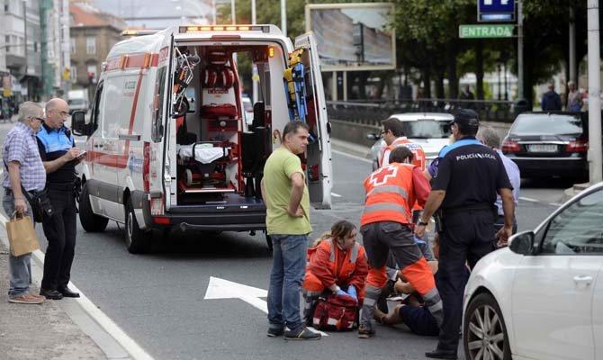 Accidente en Coruña